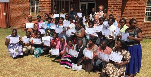presentations at School in Malawi